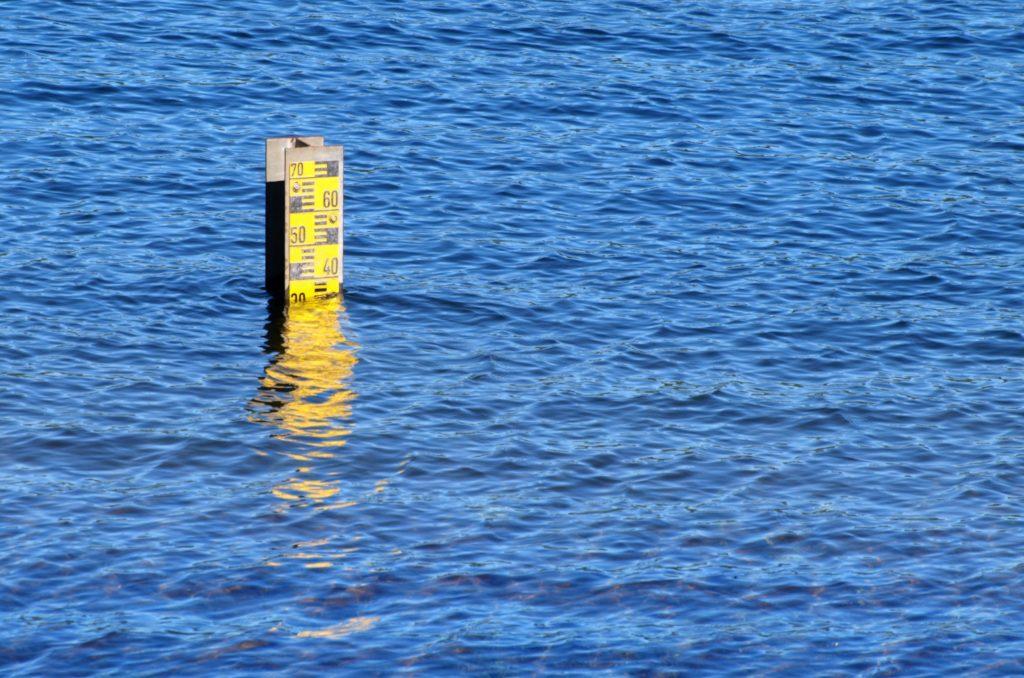 Niveau d'eau inondation